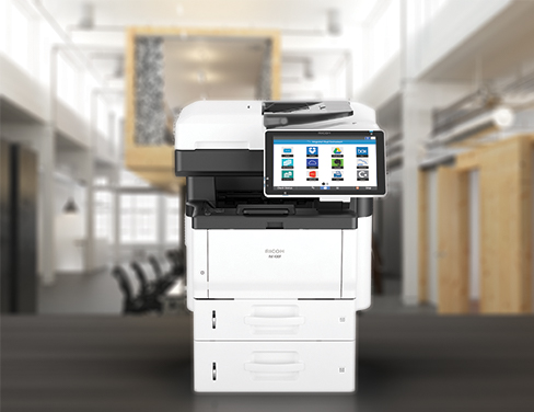 MFP showing application icons on desk